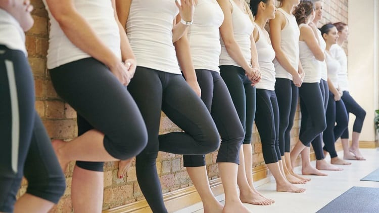 Group Of Girls Wearing Yoga Pants