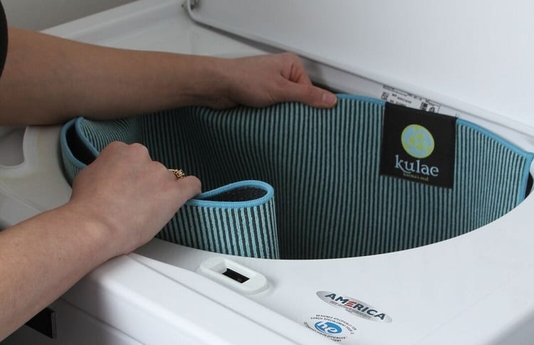 Putting Yoga Mat In Washing Machine