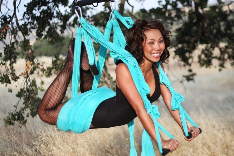 Doing Aerial Yoga
