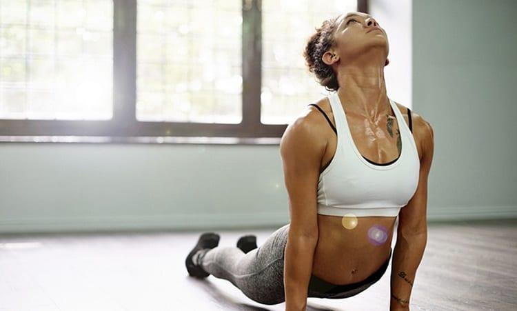 Woman Doing Yoga Cardio