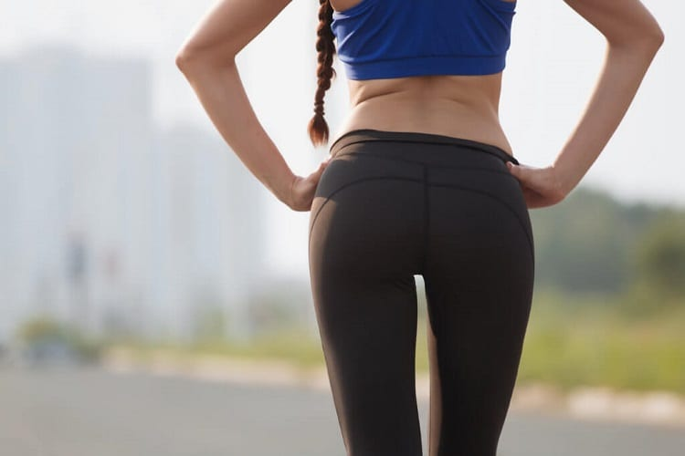 Woman Wearing Yoga Pants