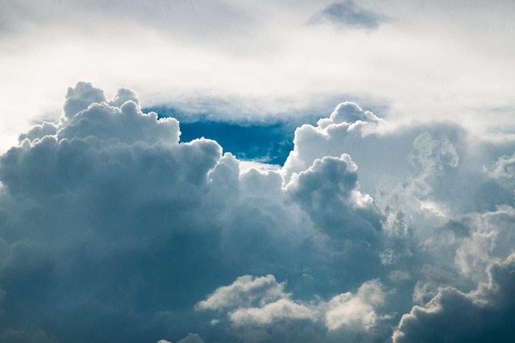 Large beautiful clouds.